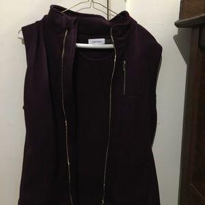 Calvin Klein Medium Dark Purple Sleeveless Vest